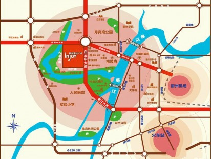 衢州新城吾悦广场交通图