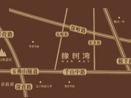 鞍山华润橡树湾交通图