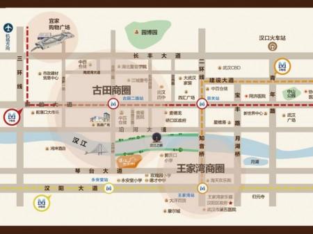 武汉佳兆业滨江壹号交通图