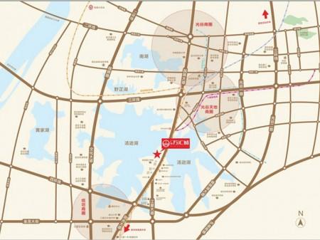 武汉广信万汇城交通图