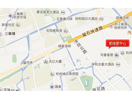杭州复地壹中心交通图