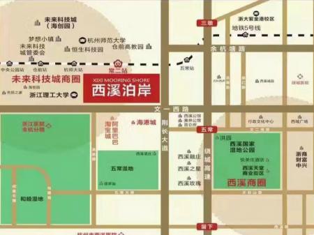 杭州西溪泊岸交通图