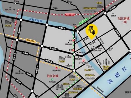 杭州向江来时代中心交通图