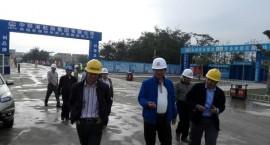 海口住建局王义勇副局长带队检查江东大道二期、地下综合管廊二期