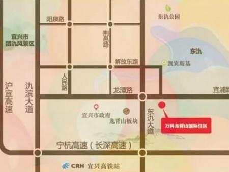 宜兴万科龙背山国际住区交通图
