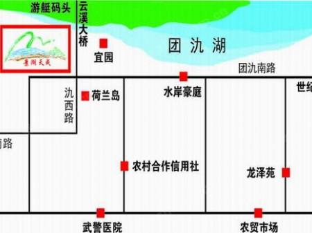 宜兴景湖天成交通图