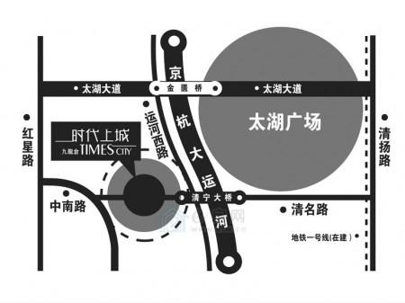 无锡九龙仓时代上城交通图