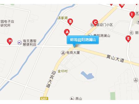蚌埠晨阳滟澜山交通图