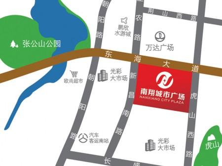 蚌埠南翔城市广场交通图