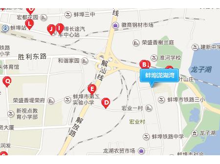 蚌埠泷湖湾交通图