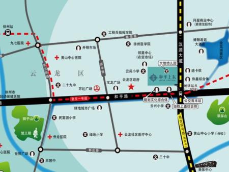 徐州和平上东交通图
