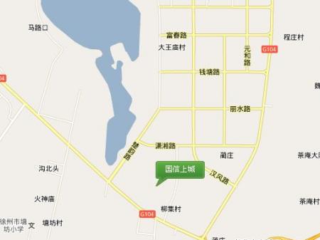 徐州国信上城·学府交通图