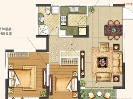 徐州绿地工润·和平壹号2室2厅1厨1卫户型图