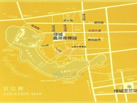 无锡蠡湖香樟园交通图