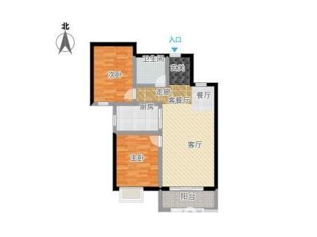 秦皇半岛紫城 2室2厅1卫 97㎡  半通透,后一套