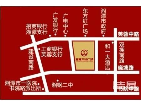 湘潭万达广场交通图