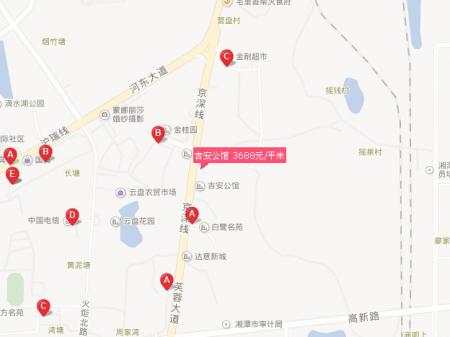 湘潭吉安公馆交通图