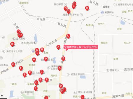 湘潭宏通毕加索公寓交通图