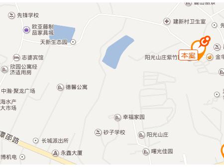 湘潭沁园峰尚交通图