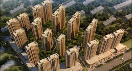 孝感金都·九龙城一期共5栋已基本成型