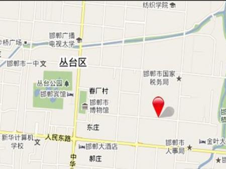邯郸中央公园交通图