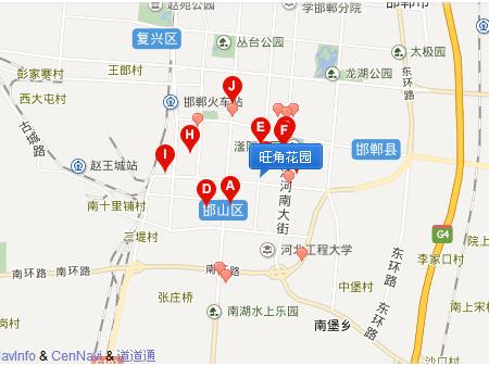 邯郸旺角花园交通图