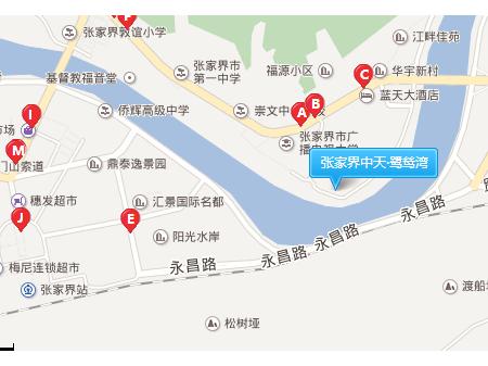 张家界中天·鹭鸶湾交通图