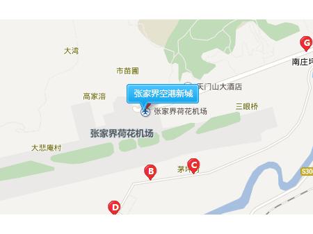 张家界空港新城交通图