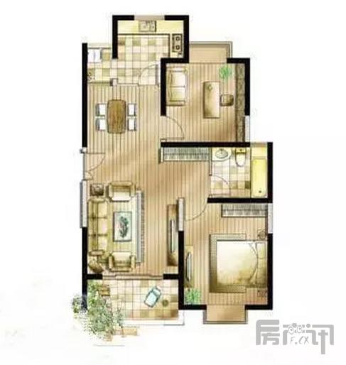 上海亭汇花苑(松江-九亭) 2室2厅1卫 简装