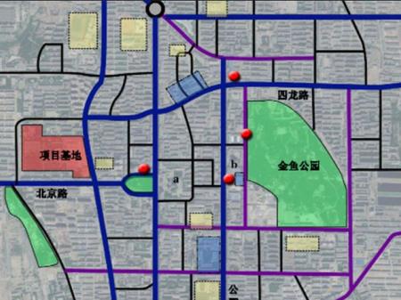 白银观澜商业街交通图