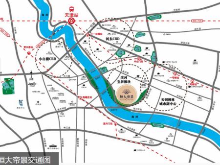 天津恒大帝景交通图