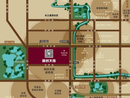 天津融创中心交通图