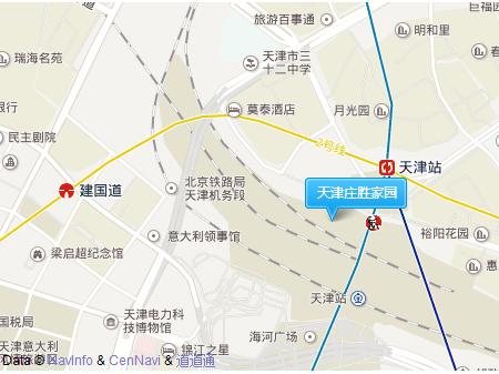 天津庄胜家园交通图