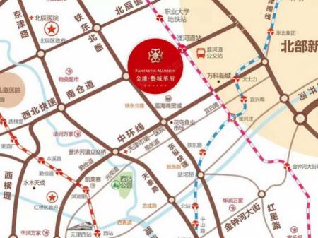 天津金地艺城华府交通图