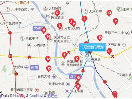 天津津门熙湖交通图