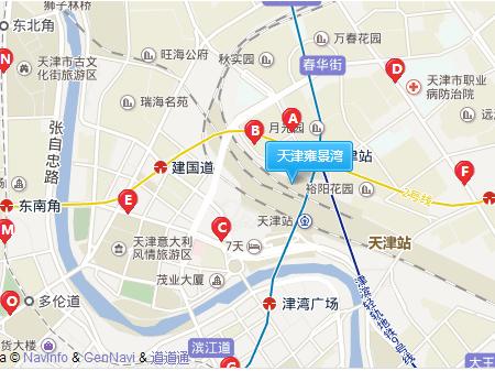 天津雍景湾交通图