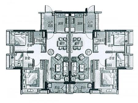 广州万科里享家户型图