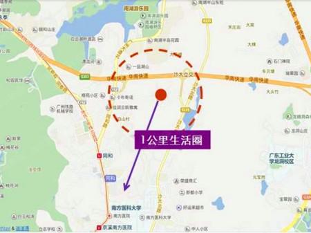 广州越秀星汇云城交通图