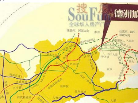 惠州德洲城交通图