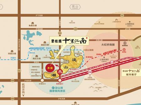 苏州碧桂园十里江南交通图