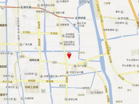 苏州新城招商香溪源交通图
