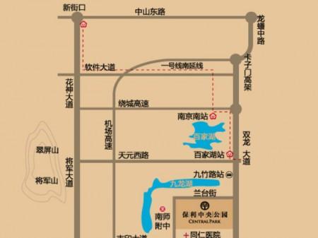 南京保利中央公园交通图