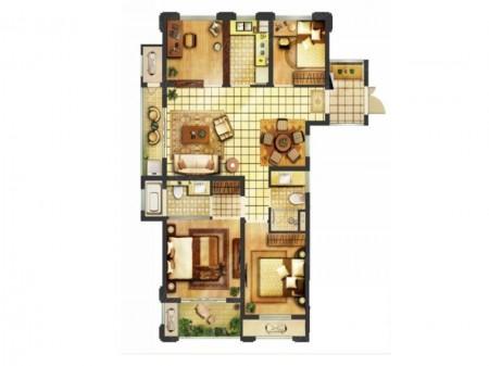 南京翠屏城户型图4室2厅2卫