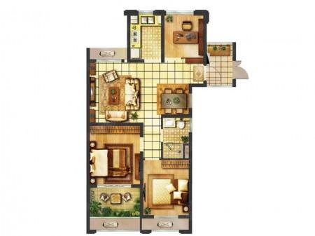 南京翠屏城户型图3室2厅1卫