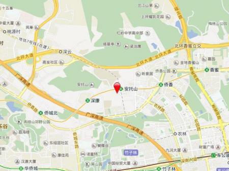 深圳安峦公馆交通图