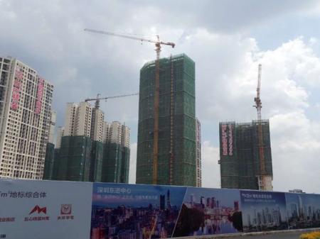 深圳金地龙城中央实景图