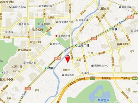 深圳金地龙城中央交通图