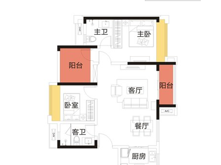 深圳金地龙城中央户型图