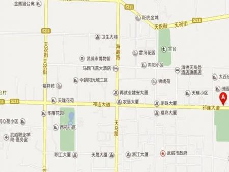 武威融城华府交通图