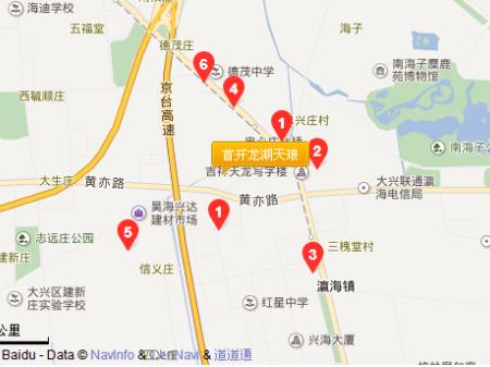 北京首开龙湖天琅交通图
